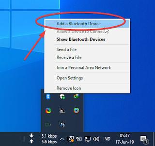 Pairing Bluetooth android dengan komputer