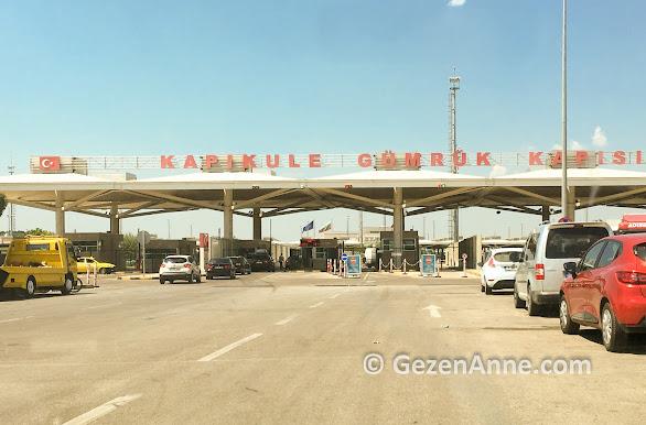 Kapıkule gümrük kapısından geçerken, Türkiye Bulgaristan