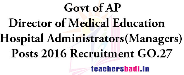DME AP,Hospital Administrators,Managers Posts