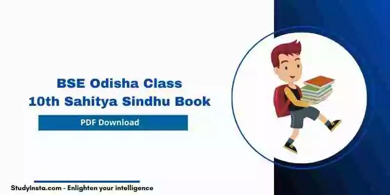BSE Odisha 10th Class MIL (Sahitya Sindhu) Book PDF 2021