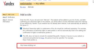 Yandex Webmasters Tools