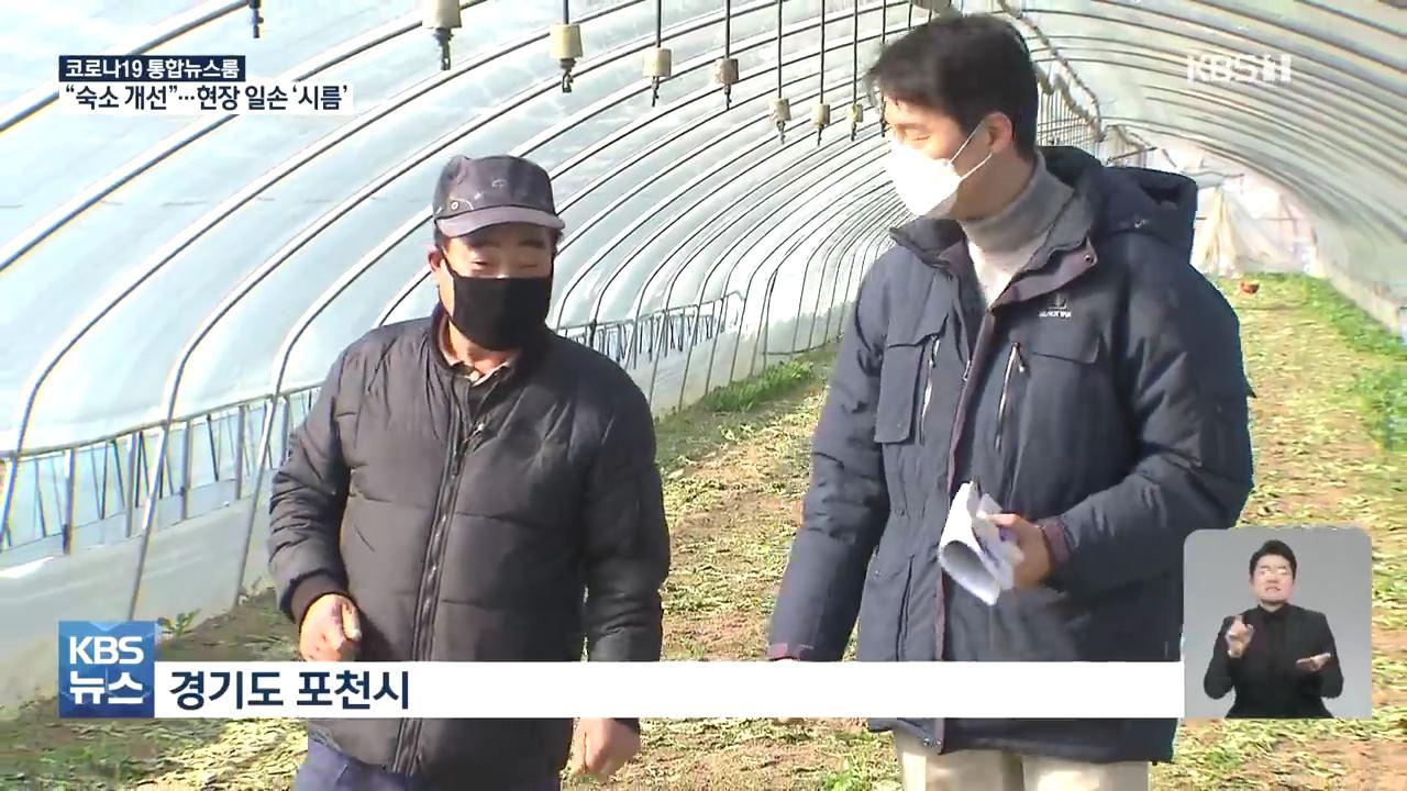 비닐하우스 숙소 금지에 농가 발동동