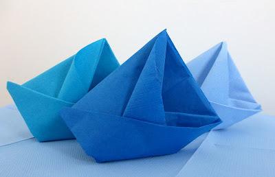 serviette-barque