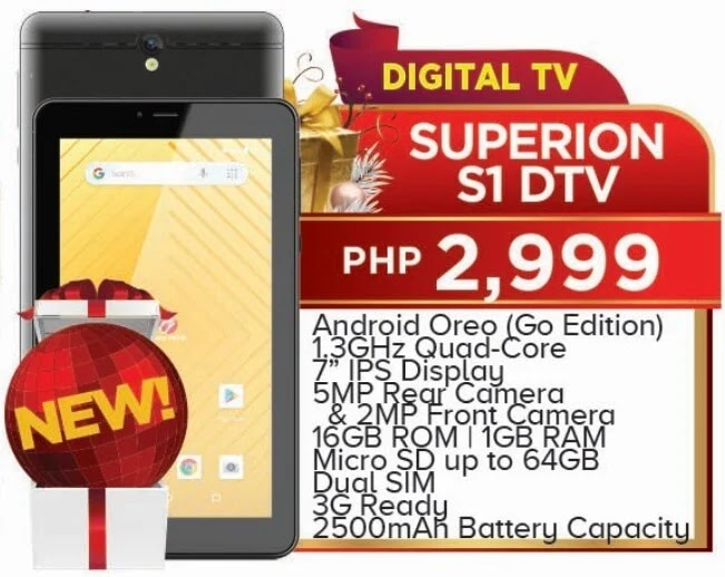 Cherry Mobile Superion S1 DTV Specs, Price, Availability