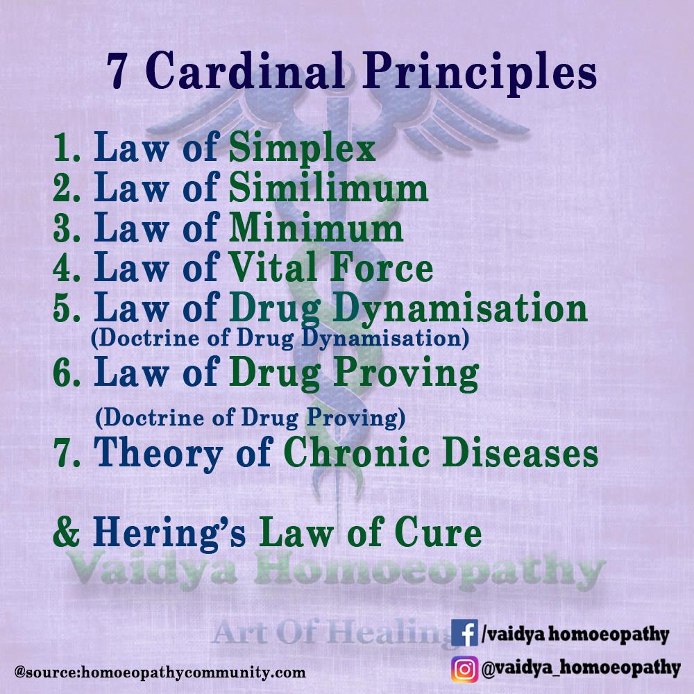 7 Cardinal Principals - VAIDYA HOMEOPATHY
