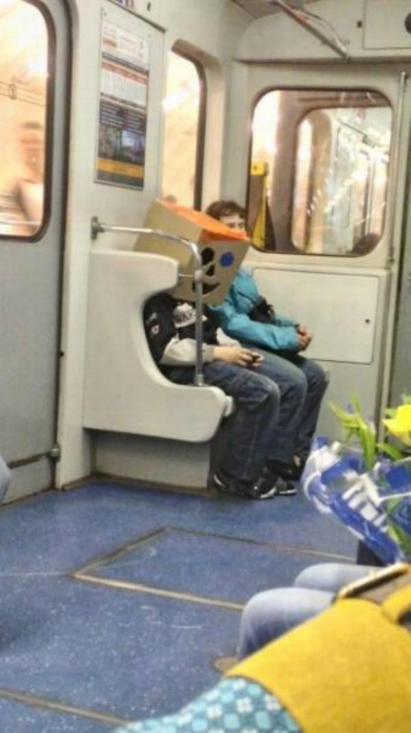 cenas engraçadas em metrô