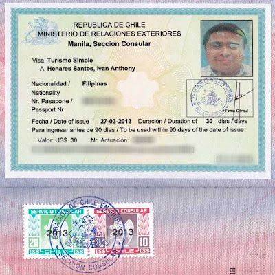 Chile visa application in Philippines