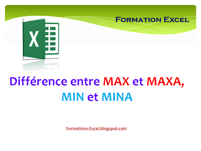 Différence entre MAX et MAXA MIN et MINA