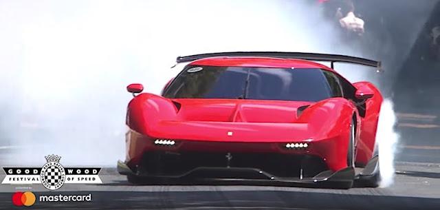 世界に1台だけのフェラーリの最新ワンオフ「P80/C」がグッドウッドで走りを披露!