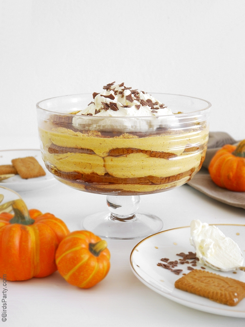 Pumpkin & Cinnamon Tiramisu Recipe | BirdsParty.com