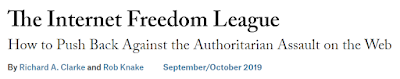 Five Thoughts on the Internet Freedom League