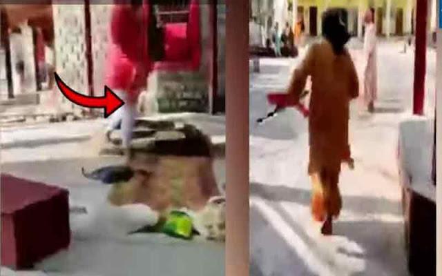 कांगड़ा: मंदिर के हवन कुंड में पूजा करने से भड़का साधु, डंडा लेकर मारने को दौड़ा