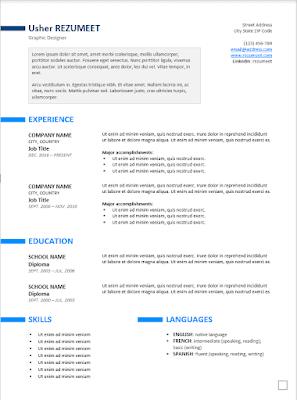 Exemple de CV pour banque et Assurance à télécharger gratuit