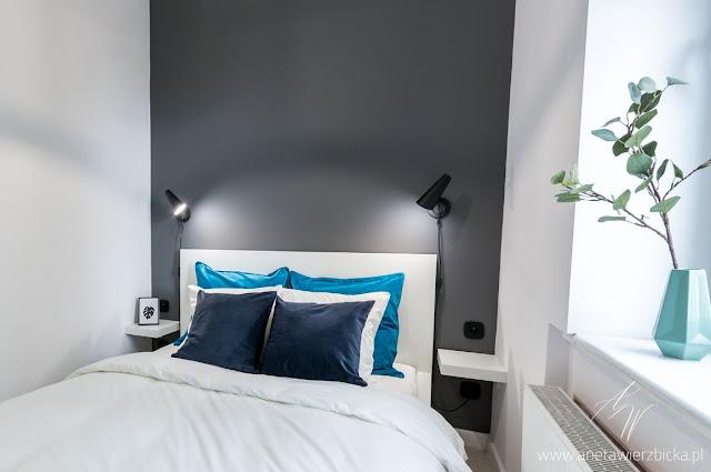 Pomysł na niewielką i wąską sypialnię.