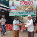 Kampung Seunebok Dalam Mesjid Terendam Banjir, Datok Penghulu Serahkan Bantuan Kepada Warga