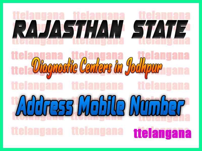 Diagnostic Centers Jodhpur Rajasthan