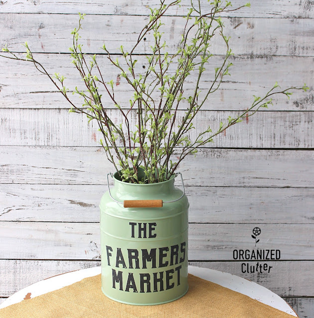 Thrift Shop Finds Upcycled As Early Spring Decor #upcycle #thriftshopmakeover #imagetransfer #redesignbyprima #farmhousedecor #farmhousestyle