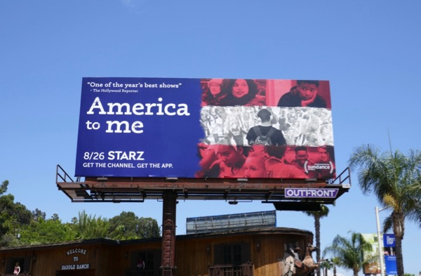 America to Me series launch billboard