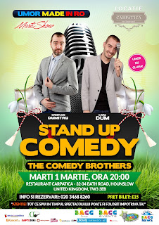 MărțiSHOW - Stand-up comedy - Restaurant Carpatica - 1 Martie 2016