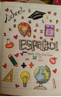 cómo hacer caratulas de colegio, ideas para decorar caratulas de colegio, decoraciones bonitas para caratulas, decoraciones para el cuaderno