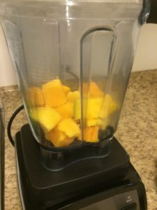 Juice Recipe: mangoes in bllender