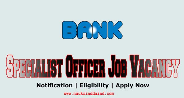specialist officer in bank