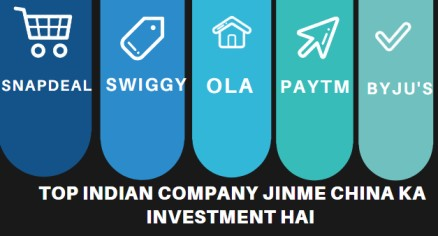 Top Indian company jinme China ka investment hai - चाइना इन्वेस्टमेंट इन इंडियन कंपनीज