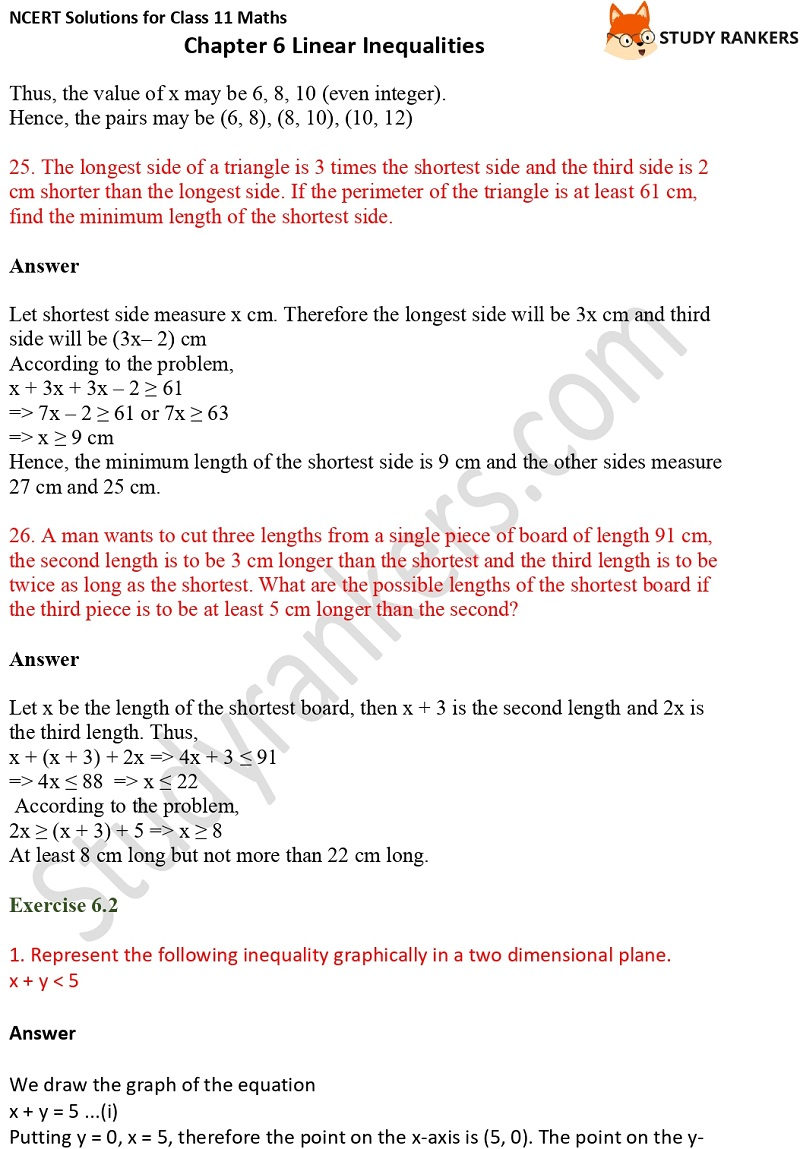 NCERT Solutions for Class 11 Maths Chapter 6 Linear Inequalities 9