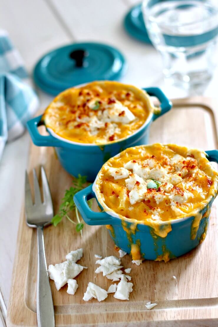 Sweet Potato and Feta Macaroni Cheese