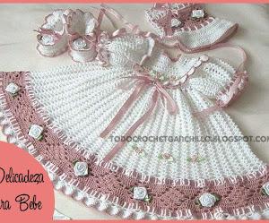 Patrones crochet de vestido de bebé