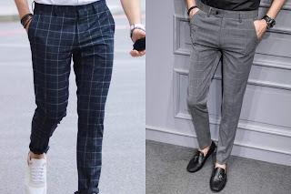 Guys wearing check pants