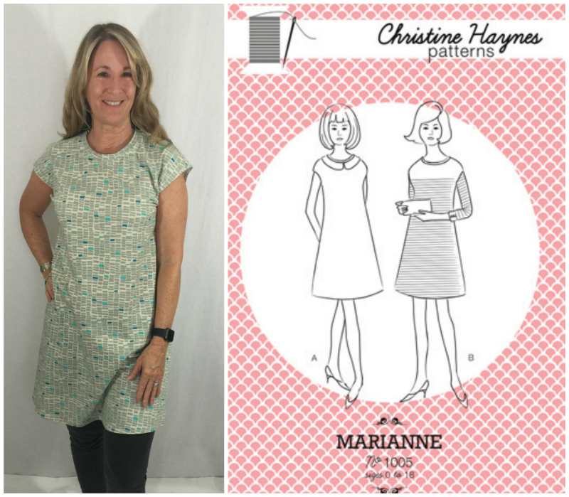 Fabriclady thursdays with laurel wrapping up another year of indie marianne dress by christine haynes malvernweather Image collections