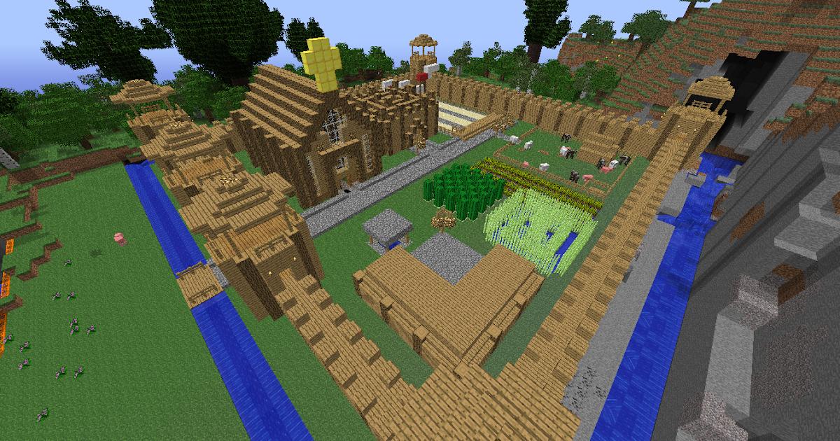 Minecraft Building Ideas Wooden Fort