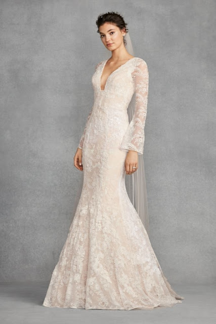 K'Mich Weddings - wedding planning - wedding dresses - white lace bell sleeve wedding dress - white by vera wang
