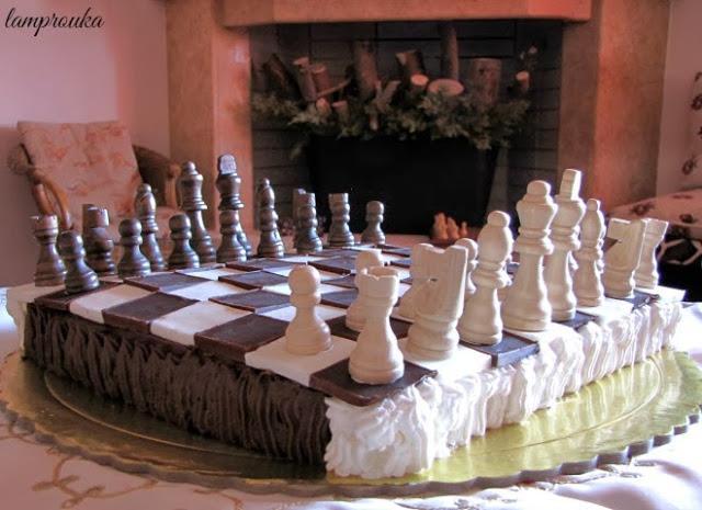τούρτα γενεθλίων σκάκι