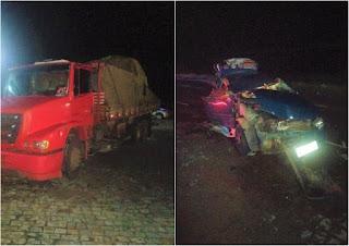 Um morre e dois ficam feridos em acidente em Dom Basílio