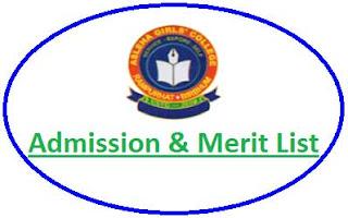 Asleha Girls' College Merit List