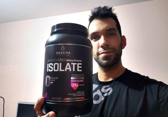 Mis opiniones sobre la whey protein de Sascha fitness sabor chocolate