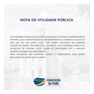 Nota da prefeitura