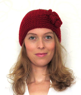 fall autumn winter red headwrap herfst winter rode haarband