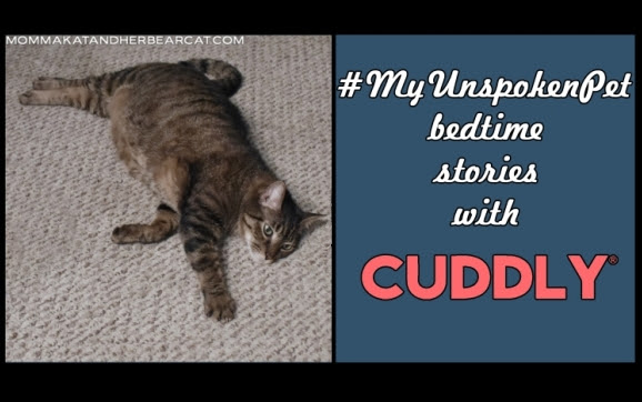 #MyUnspokenPet bedtime stories with Cuddly
