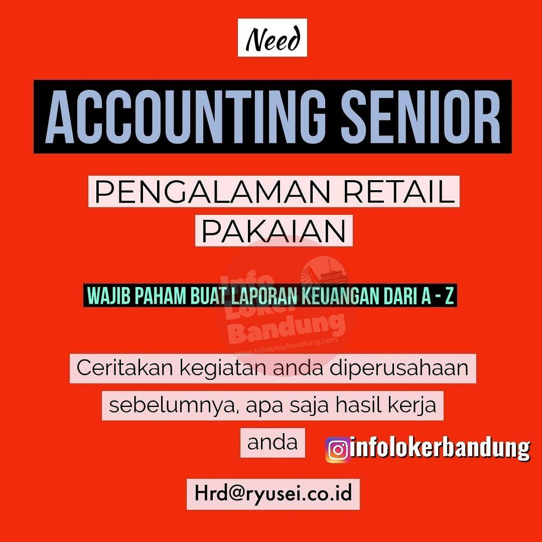 Lowongan Kerja Accounting Senior Ryu Sei Bandung Desember 2019