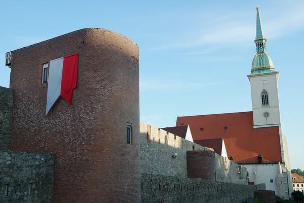bratislava vieille ville centre cathédrale saint-martin remparts