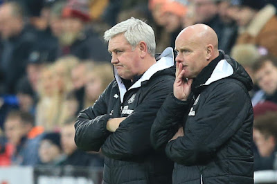 Newcastle United Steve Bruce and Assistant