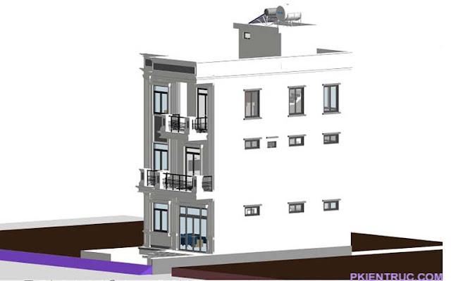 nhà phố Revit  tầng cổ điển