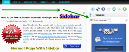 blog widh sidebar