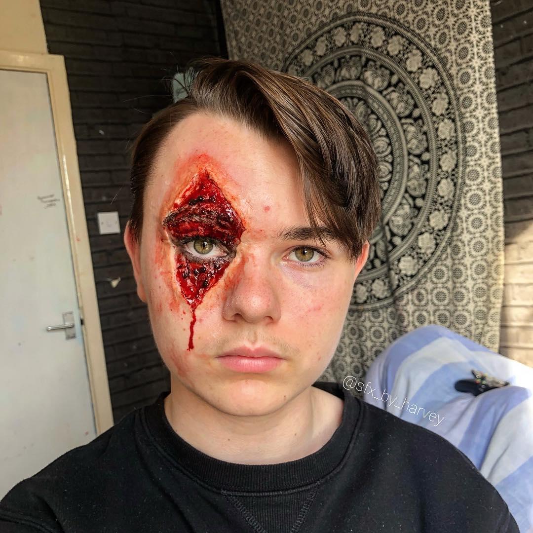 maquiagem halloween 2018 para homem