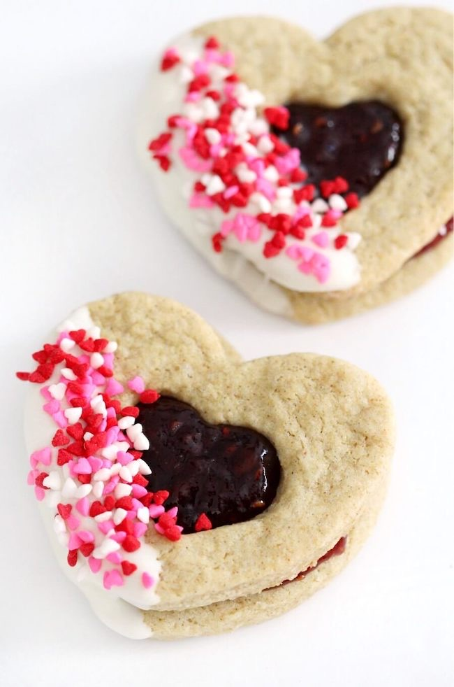 Gluten-Free Valentine's Day Cookies by Strength and Sunshine featured at Pieced Pastimes