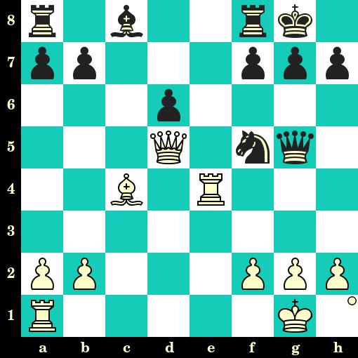 Les Blancs jouent et matent en 2 coups - Max Euwe vs A Van Mindeno, Pays-Bas, 1927