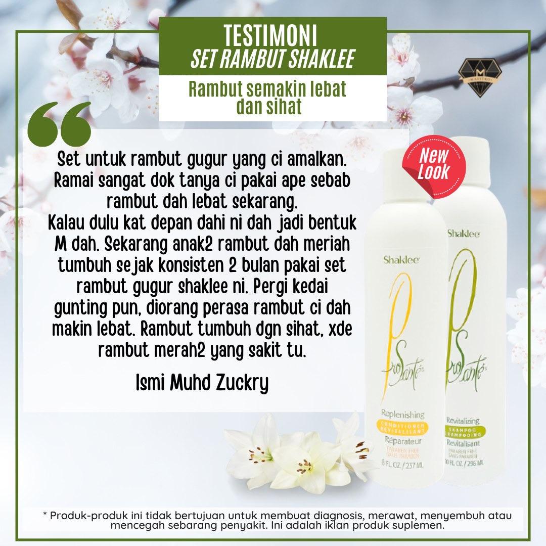 Set Shampoo Shaklee: Keistimewaan, Cadangan Penggunaan dan Testimoni